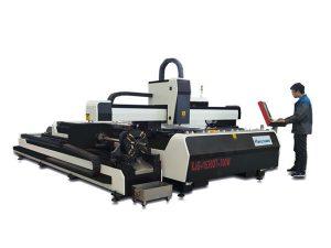 mini vysoce výkonný laserový řezací stroj, vlákno laserové řezací zařízení s výměnným stolem